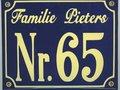 Emaille huisnummer, huisnummerborden, huisnummerbordjes, naamplaten