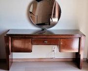 Grote kaptafel met spiegel ✅ Art Deco design uit de jaren 40