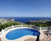 Uw Villa in MORAIRA met vol zeezicht terrassen en zwembad