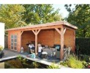 Tuinhuis Douglas Topvision Roek: 300 x 300 cm + luifel 500cm