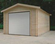 Tuinhuis-Blokhut garage traditioneel sectionaal poort (S8330): 3580 x 5080 - 28mm