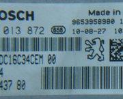 ECU BOSCH EDC16C34 Peugeot PARTNER /307/206