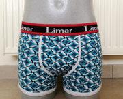 Trendy Kwalitatieve Heren Boxer met Turquoise Print S/M