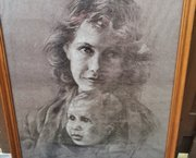 Ingelijste Poster Moeder en Kind