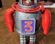Blikken Robot. Astro-Scout. Tin Tom Toy. Vintage.
