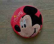 Rood Rond Disney Kussen / Poef met Mickey Mouse