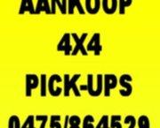 Aankoop 4x4 , pick-ups