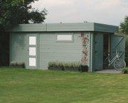 Tuinhuis-Blokhut garage modern (S8993): 3580 x 5380mm
