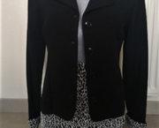 Nieuwe Zwarte Tailleur met Tijgerprint - Medium