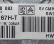 ECU herstelling Peugeot 407 SID 803  5WS40167H-T