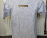 Nieuw Lichtgrijs Gemeleerd T-Shirt met Crossover Print - Medium
