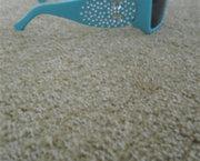 Super Trendy Blauwe Zonnebril met Strass voor Meisjes