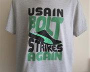 Lichtgrijs Puma T-Shirt - Usain Bolt Collection - XL