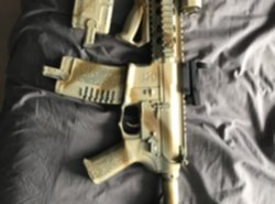 Airsoft AEG geweer M4 Ares Amoeba + extra's