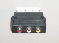 Scart Audio Video RCA Converter - Scart Naar Tulp