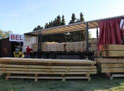 Afdak voor hout