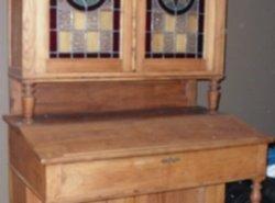 Bureau In Kast : Antiek antieke glas in lood bureau kast zoekertjes.net