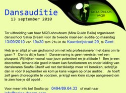 Danseressen  -  auditie MQB- showteam