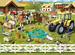 Walltastic Designer Behangpapier Farmyard Fun