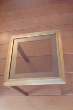 Meubelen messing salon bijzet tafel met glazen plaat for Glazen plaat