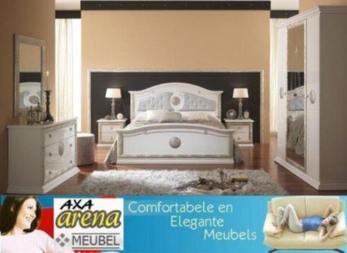 Slaapkamer Meubels Wit : Meubelen hoogglans wit goud zilver slaapkamer meubelen axa breda