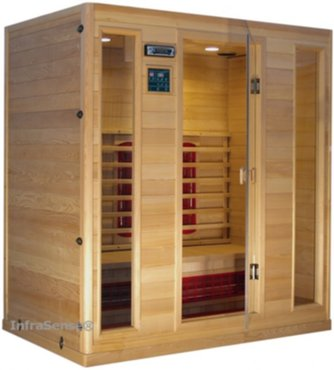 verzorging infrarood sauna geschikt voor 3 4 personen hoeksauna incl diagonaalstraler. Black Bedroom Furniture Sets. Home Design Ideas