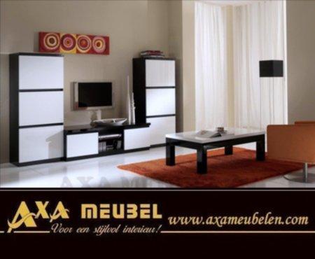 Meubelen goedkope hoogglans zwart wit kwaliteits for Goedkope woonkamer