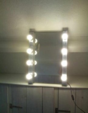 huisraad - Visagie/Make up spiegel met verlichting - Zoekertjes.net