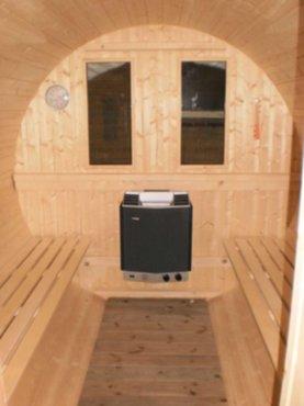 tuin en tuinmachines buitensauna barrelsauna elektrisch getookt freja outdoor. Black Bedroom Furniture Sets. Home Design Ideas