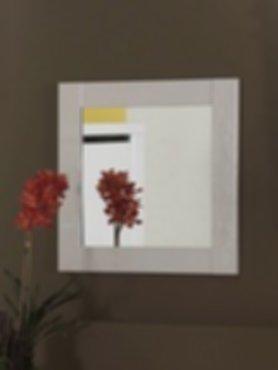 Meubelen witte hoogglans spiegel 60x60 cm for Spiegel 60x60