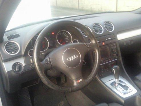 Autos audi a4 cabrio full option wit lederen for Lederen interieur audi a4
