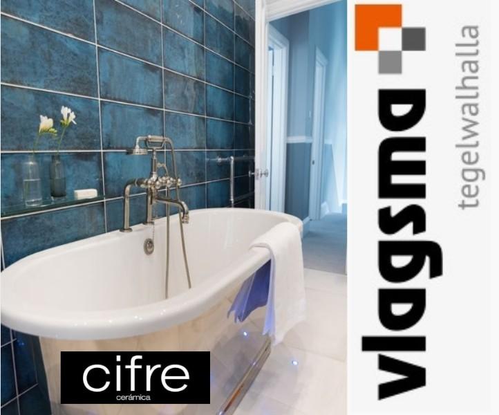 Badkamer Keuken Bolsward : Bouw azuur blauwe wandtegels cifre 20x50 cm badkamer toilettegels